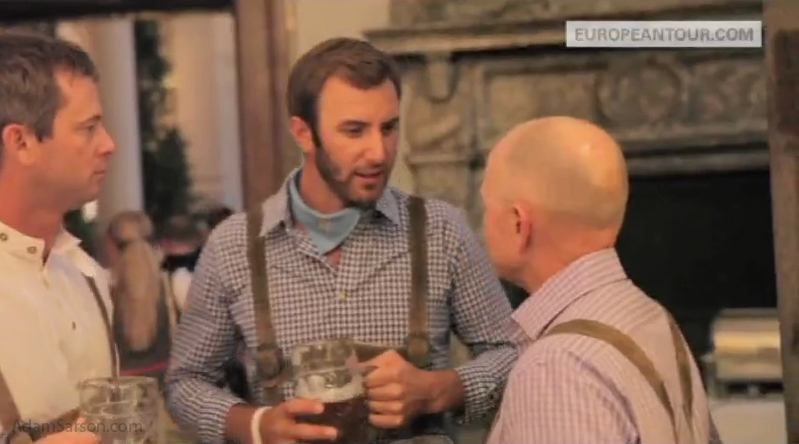 Dustin Johnson - lederhosen.