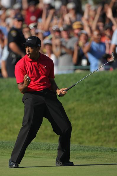 Tiger at the 2008 U.S. Open (Courtesy: Zimbio.com)