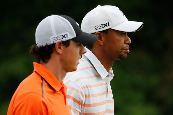 Tiger Woods and Rory McIlroy (Courtesy: Zimbio.com)