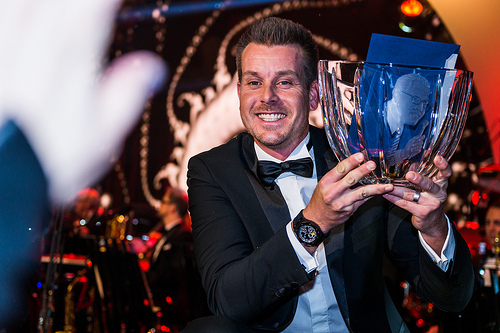Henrik Stenson after winning Sweden's male athlete of the year. (Courtesy: herman.caroan)