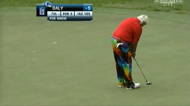 Just one of John Daly's outfits this week at Waialae.