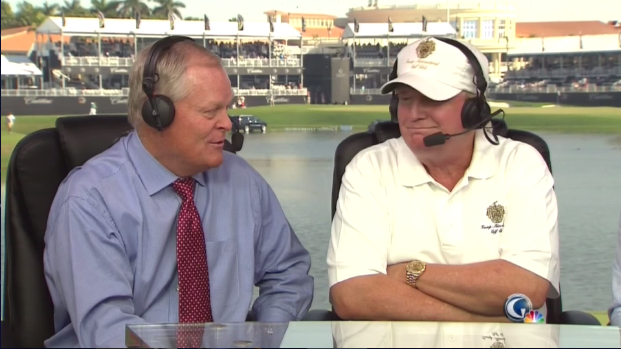 Johnny Miller and Donald Trump.