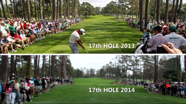 The difference on 17 without the Eisenhower Tree.