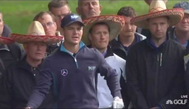 Martin Kaymer and his sombrero loving fans.