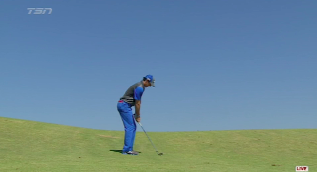 Rory in blue. Nice work by ESPN.