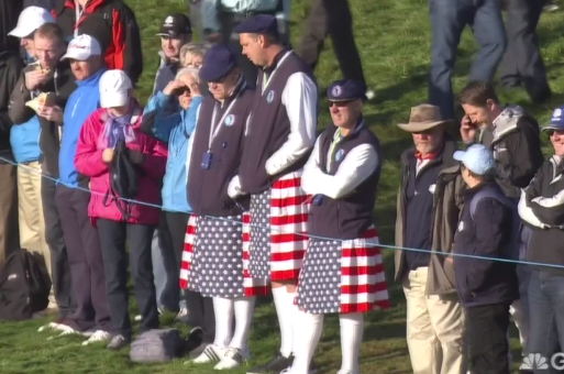 Fan attire at Gleneagles.