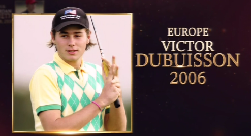 Victor Dubuisson at the Junior Ryder Cup.