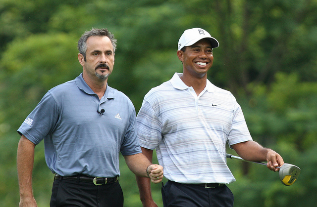 David Feherty with Tiger Woods. (Courtesy: Keith Allison)