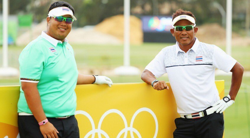 Kiradech Aphibarnrat and Thongchai Jaidee (Courtesy: World Cup of Golf Twitter Acccount)