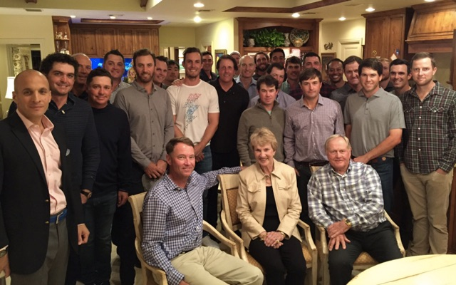 Jack's Ryder Cup Dinner. (Courtesy: Davis Love III)
